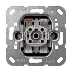 Механизм выключателя 1-клавишного двухполюсного Gira Коллекции GIRA, с подсветкой, скрытый монтаж, 011200
