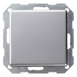 Переключатель 1-клавишный кнопочный Gira E22, скрытый монтаж, алюминий, 0130203