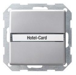Карточный выключатель Gira E22, механический, алюминий, 0140203