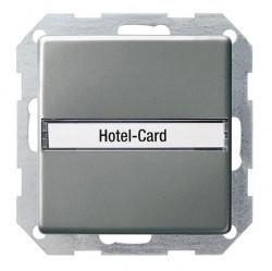 Карточный выключатель Gira E22, механический, стальной, 014020