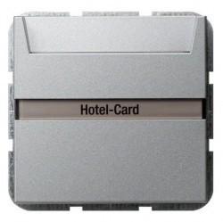 Карточный выключатель Gira SYSTEM 55, механический, алюминий, 014026