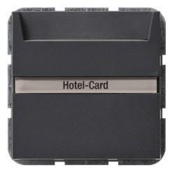 Карточный выключатель Gira SYSTEM 55, механический, антрацит, 014028