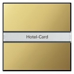 Карточный выключатель Gira SYSTEM 55, механический, латунь, 0140604