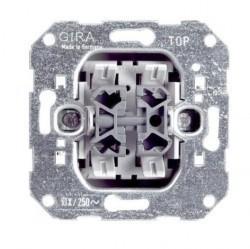 Механизм выключателя 2-клавишного кнопочного Gira Коллекции GIRA, скрытый монтаж, 014700