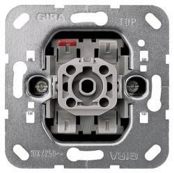 Механизм выключателя 1-клавишного кнопочного Gira Коллекции GIRA, скрытый монтаж, 015100