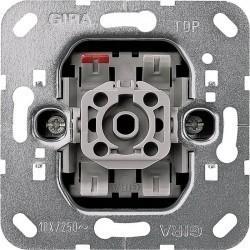 Механизм выключателя 1-клавишного кнопочного Gira Коллекции GIRA, скрытый монтаж, 015200