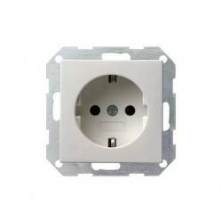 Розетка Gira SYSTEM 55, скрытый монтаж, с заземлением, белый, 018803