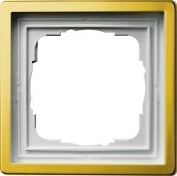 Рамка 1 пост Gira F100, латунь, 0211113
