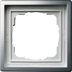 Рамка 1 пост Gira F100, платина, 0211114