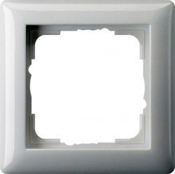 Рамка 1 пост Gira E22, алюминий, 0211203