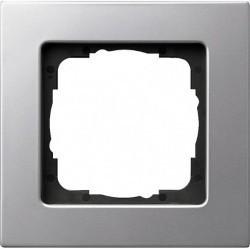 Рамка 1 пост Gira E22, алюминий, 0211206