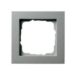 Рамка 1 пост Gira E2, алюминий, 021125