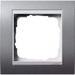 Рамка 1 пост Gira EVENT, алюминий, 0211326