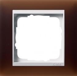 Рамка 1 пост Gira EVENT, полупрозрачный коричневый, 0211331