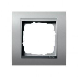 Рамка 1 пост Gira EVENT, алюминий, 021136