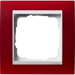 Рамка 1 пост Gira EVENT, полупрозрачный красный матовый, 0211398