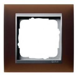 Рамка 1 пост Gira EVENT, темно-коричневый матовый, 021159