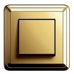 Рамка 1 пост Gira CLASSIX, латунь, 0211631