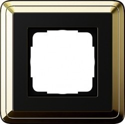 Рамка 1 пост Gira CLASSIX, латунь, 0211632