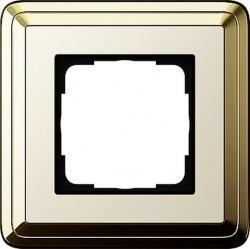 Рамка 1 пост Gira CLASSIX, латунь, 0211633