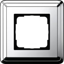 Рамка 1 пост Gira CLASSIX, хром, 0211641