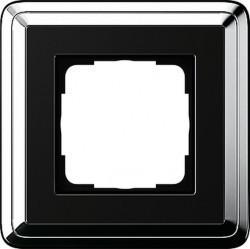 Рамка 1 пост Gira CLASSIX, хром, 0211642