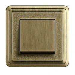 Рамка 1 пост Gira CLASSIX ART, бронзовый, 0211661