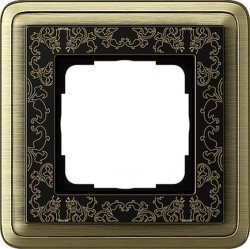 Рамка 1 пост Gira CLASSIX ART, бронзовый, 0211662