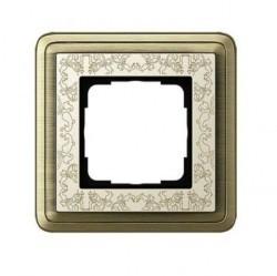 Рамка 1 пост Gira CLASSIX ART, бронзовый, 0211663