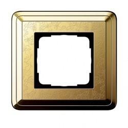 Рамка 1 пост Gira CLASSIX ART, латунь, 0211671