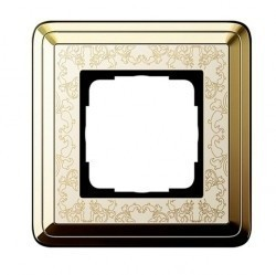 Рамка 1 пост Gira CLASSIX ART, латунь, 0211673
