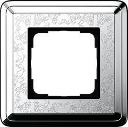 Рамка 1 пост Gira CLASSIX ART, хром, 0211681