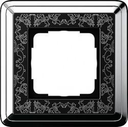 Рамка 1 пост Gira CLASSIX ART, хром, 0211682