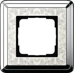 Рамка 1 пост Gira CLASSIX ART, хром, 0211683