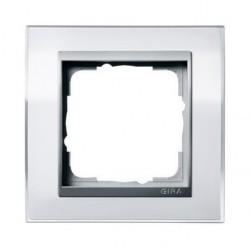 Рамка 1 пост Gira EVENT CLEAR, белый глянцевый, 0211726