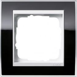 Рамка 1 пост Gira EVENT CLEAR, черный глянцевый, 0211733