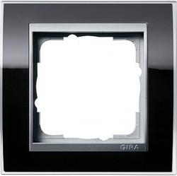 Рамка 1 пост Gira EVENT CLEAR, черный глянцевый, 0211736