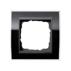 Рамка 1 пост Gira EVENT CLEAR, черный глянцевый, 0211738