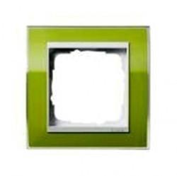 Рамка 1 пост Gira EVENT CLEAR, зеленый глянцевый, 0211743