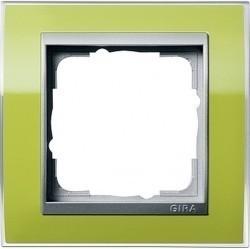 Рамка 1 пост Gira EVENT CLEAR, зеленый глянцевый, 0211746