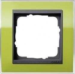 Рамка 1 пост Gira EVENT CLEAR, зеленый глянцевый, 0211748