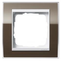 Рамка 1 пост Gira EVENT CLEAR, коричневый глянцевый, 0211761