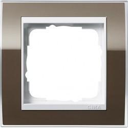 Рамка 1 пост Gira EVENT CLEAR, коричневый глянцевый, 0211763