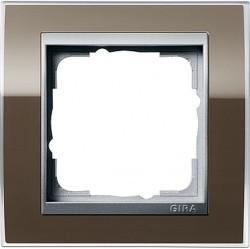 Рамка 1 пост Gira EVENT CLEAR, коричневый глянцевый, 0211766