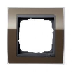 Рамка 1 пост Gira EVENT CLEAR, коричневый глянцевый, 0211768