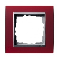Рамка 1 пост Gira EVENT, красный матовый, 021192