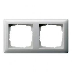 Рамка 2 поста Gira STANDARD 55, белый глянцевый, 021203