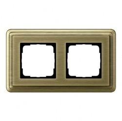 Рамка 2 поста Gira CLASSIX, бронзовый, 0212621