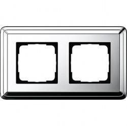 Рамка 2 поста Gira CLASSIX, хром, 0212641