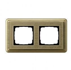 Рамка 2 поста Gira CLASSIX ART, бронзовый, 0212661